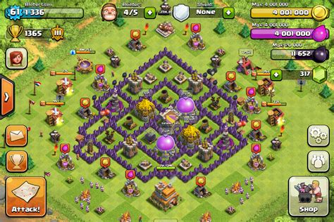 layout coc th 4 yg bagus pics for gt th7 farming base layout