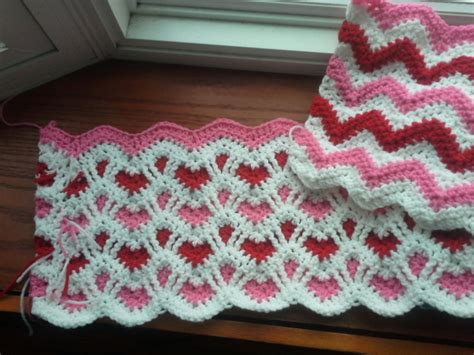 ripple pattern synonym image gallery heart afghan patterns