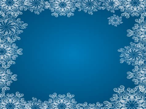 Blue Snowflake Frames Backgrounds Blue Border Frames Snowflake Powerpoint Template