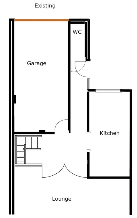 How To Convert An Integral Garage Into A Room by Convert Integral Garage Extend Kitchen Wall Removal