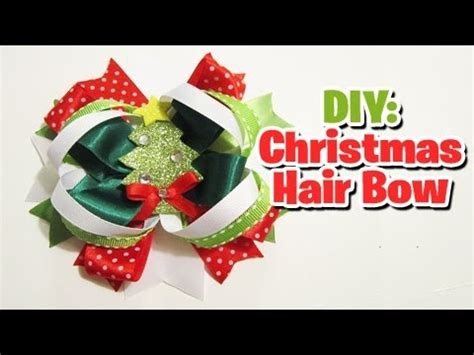 youtube how to make a silver xmas bow last minute hair bow tutorial