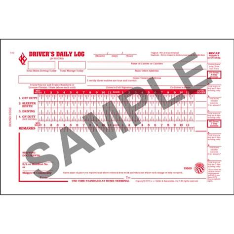the log book getting 1856231577 driver s daily log book with simplified dvir 2 ply