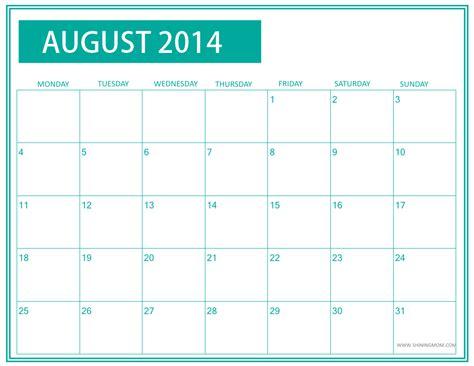 december 2014 printable calendar shining mom fresh designs august 2014 calendar by shining mom