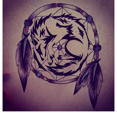 wolf and dreamcatcher tattoo designs wolf and catcher design i did for my