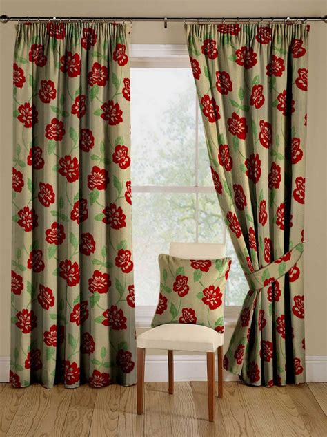 curtains with red flowers brown curtains red flowers curtain menzilperde net