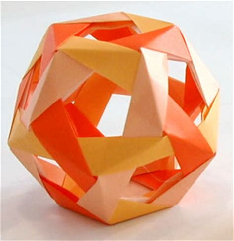 Modular Origami Dodecahedron - origami and folded paper origami and folded paper guide