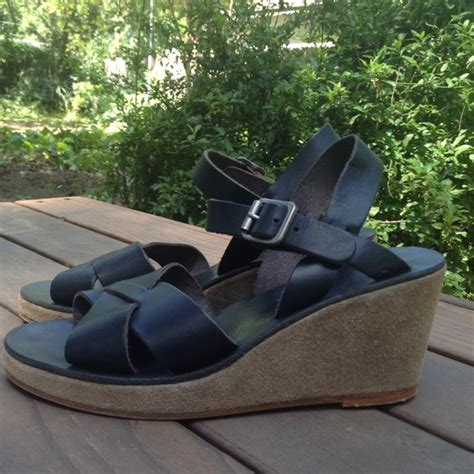 apc sandals 49 apc shoes new apc demi wedge navy leather