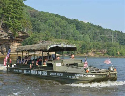 wisconsin dells boat and duck tours dells army ducks - Wisconsin Dells Duck Boats