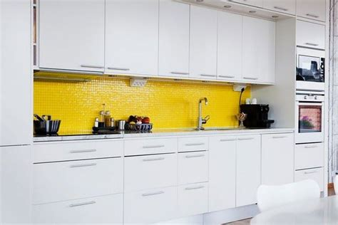 white kitchen yellow tile backsplash pretty up my place kitchen minx pinterest to be