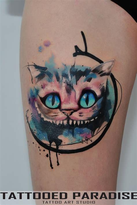 cheshire cat tattoos cheshire cat tatt by dopeindulgence g33k