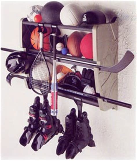 Hockey Equipment Storage Rack by Wall Mount Sports Gear Rack In Sports Equipment Organizers