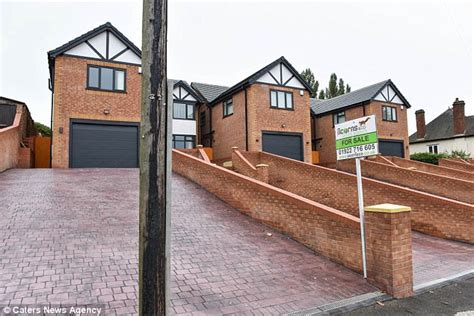 building a home walsall builders build house with pole in driveway daily mail