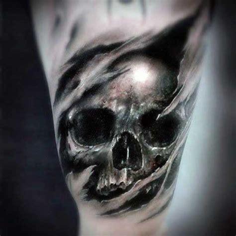 batman tattoo ripping through skin 50 ripped skin tattoo designs for men manly torn flesh