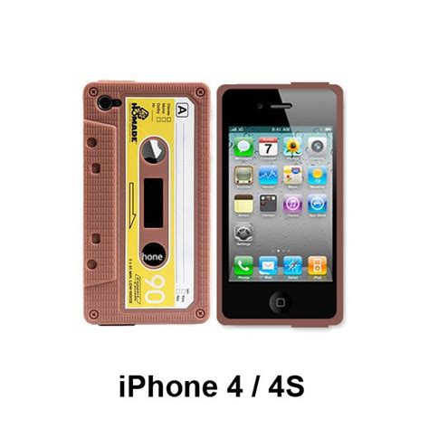 iphone 4 cassette coque iphone 4 4s marron cassette audio
