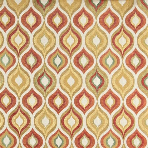 contemporary upholstery fabric a0019c gold red green orange bright contemporary