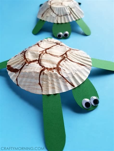 turtle craft for cupcake liner turtle craft for crafty morning
