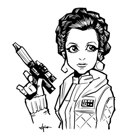 coloring pages hoth princess leia by elpino0921 on deviantart