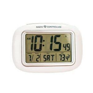 new easycomforts white large screen radio atomic alarm clock digital screen ebay