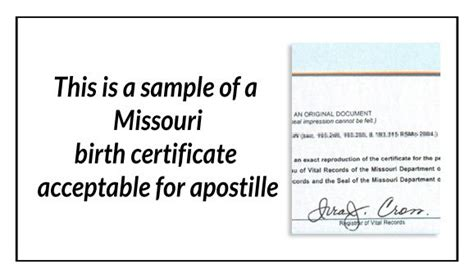 Missouri Birth Certificate Records 17 Best Images About State Of Missouri Sle Apostille On