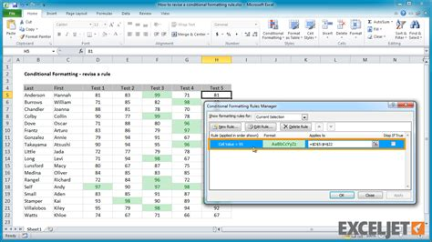 excel 2010 new features tutorial excel 2010 view conditional formatting rules excel