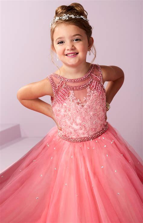 tiffany princess  beaded tulle ballgown prom dress