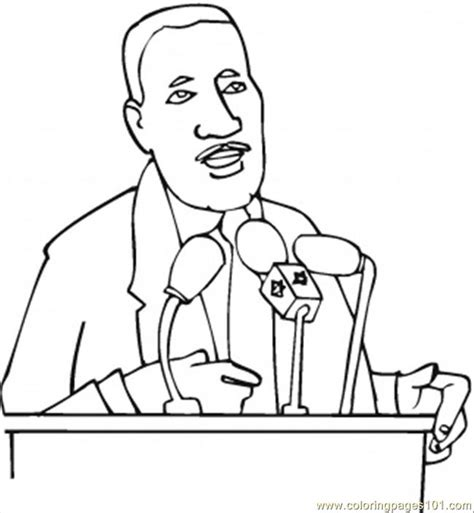 coloring pages martin luther king countries gt usa free