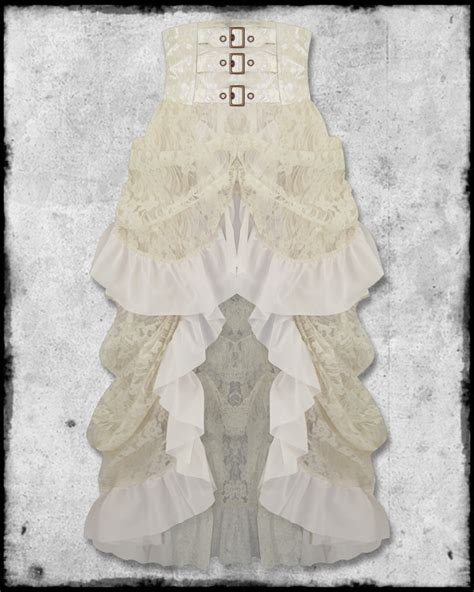 lace ivory victorian bustle skirt banned ivory long gothic steampunk vtg victorian high