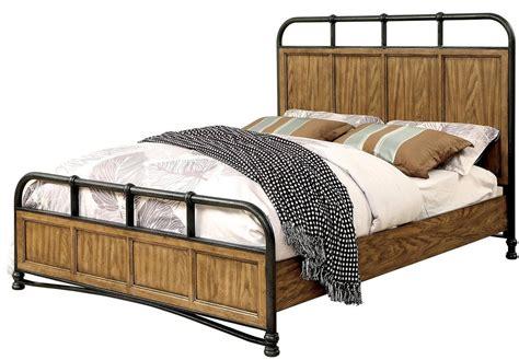 Oak California King Bed Mcville Oak Cal King Panel Bed From Furniture Of America Coleman Furniture