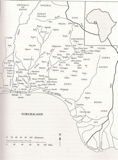 yoruba africa map adwlab team5 map of yorubaland