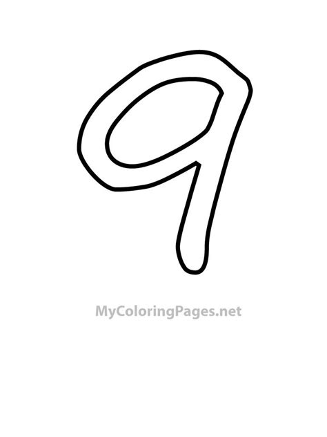 9 Coloring Page by Number 9 Outline Gallery