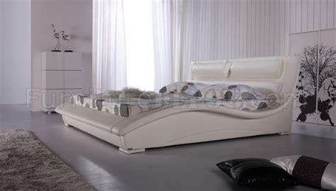 Stylish Headboards by White Leatherette Modern Stylish Bed W Padded Headboard