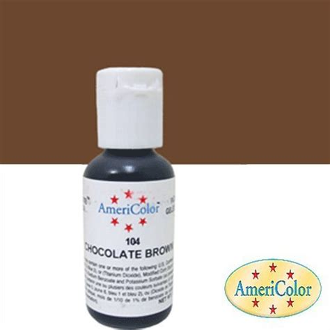 americolor soft gel paste food coloring chocolate brown