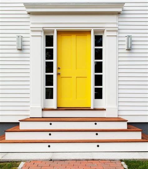 yellow front door 10 bold inspiring front doors
