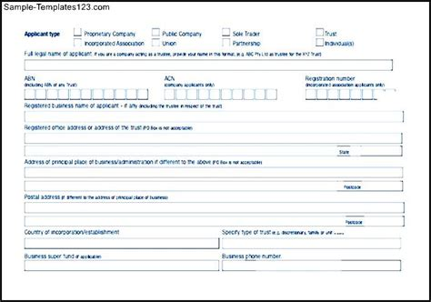 business loan application template business loan application form sle templates