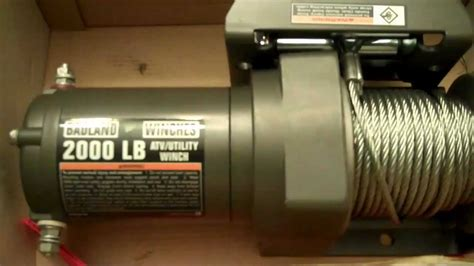 electric boat winch harbor freight badland winch 2000lbs harbor freight cheap youtube