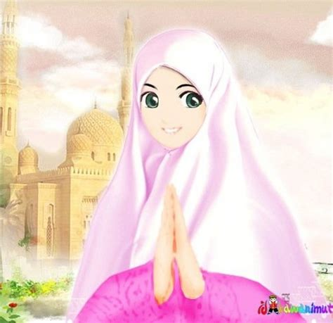 anime perempuan wanita muslimah katamuslimah twitter