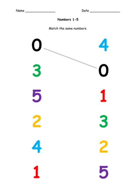 pattern matching numbers all worksheets 187 number matching worksheets 1 10