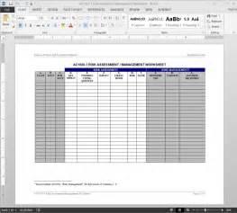 Financial Assessment Template by Risk Assessment Management Worksheet Template