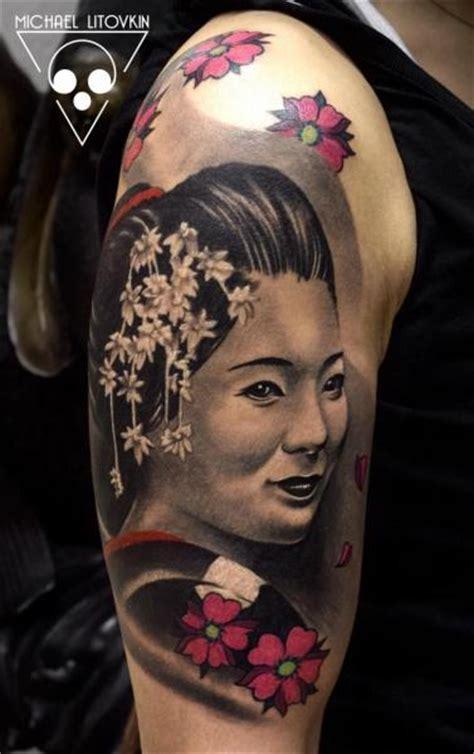 tattoo volti geisha tatouage 201 paule japonais geisha par michael litovkin
