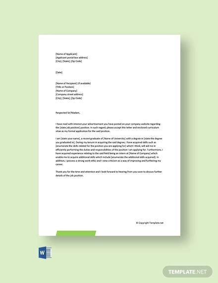 cover letter fresher
