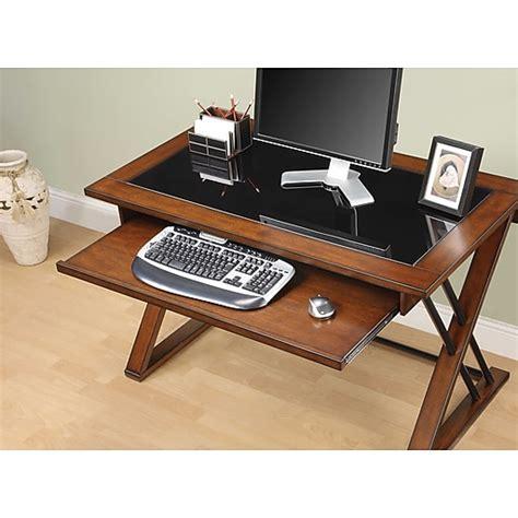 Whalen Astoria Computer Desk whalen 174 astoria computer desk brown cherry staples