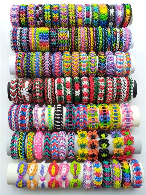 Pick 5 Rainbow Loom Bracelets out of 92 different Bracelets   eBay