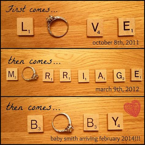 scrabble baby announcement 13 best images about brainstorms on pregnancy