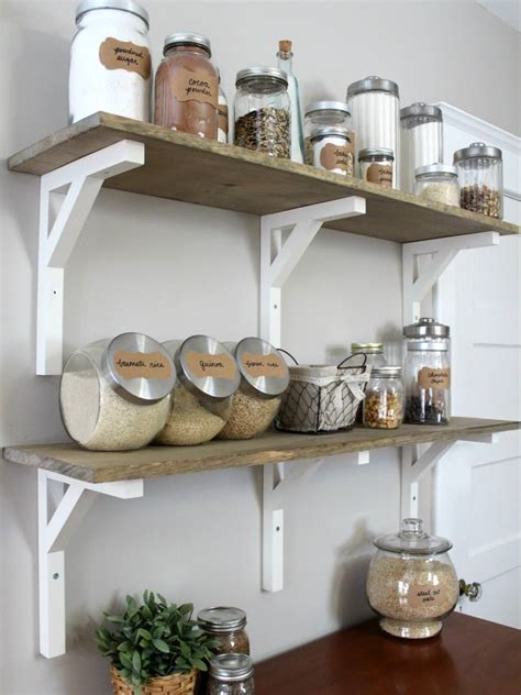 kitchen shelves 23 diy shelves furniture designs ideas plans design