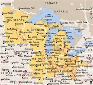 us highway map midwest photo