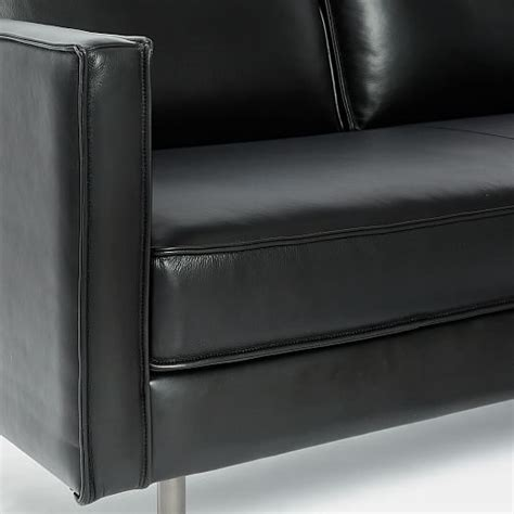west elm axel sofa review axel leather sofa 89 quot west elm