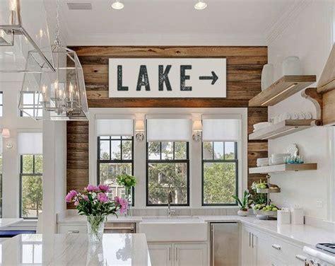 lake home decorating lake sign large canvas art lake house decor fixer upper