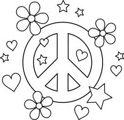 peace sign coloring pages colorable peace sign design free clip