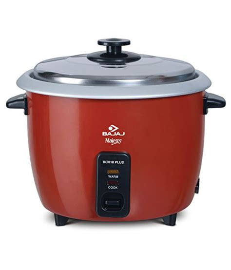 Rice Cooker Low Watt bajaj majesty rcx18 plus 550 watt multifunction rice