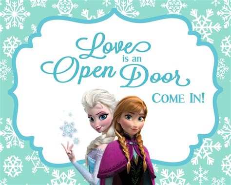 frozen printable welcome frozen birthday party welcome sign love is an by